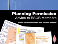 This RSGB booklet is an essential planning advice resource for Members