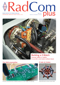 Cover of RadCom Plus, Issue 1 - The Dual Z-match for 1.8 to 146MHz. Photo courtesy of Bob, G3OOU
